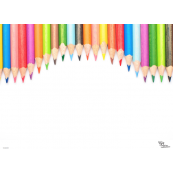 Tischset | Platzset - Schulanfang Stifte - aus Papier - 44 x 32 cm