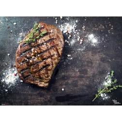 Tischset | Platzset - Steak mit Gewürzen - aus Papier - 44 x 32 cm