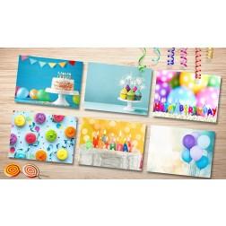 Tischsets | Platzsets - Geburtstagsmix-Set aus Papier - 44 x 32 cm