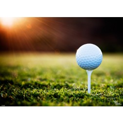 Tischsets | Platzsets - Golfball auf Aufsatz aus Papier - 44 x 32 cm