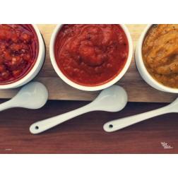 Tischset | Platzset - BBQ Saucen - aus Papier - 44 x 32 cm