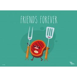 Tischset   Platzset - Friends Forever - aus Papier - 44 x 32 cm