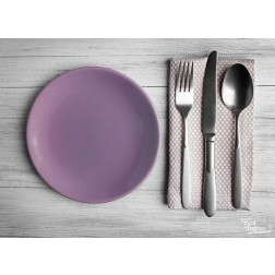 "Tischsets | Platzsets - Food ""lila Teller"" aus Papier - 44 x 32 cm"