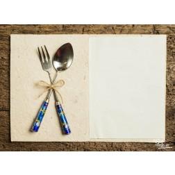"Tischsets | Platzsets - Food ""gekreuztes Besteck"" aus Papier - 44 x 32 cm"