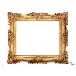 Tischset | Platzset - Rahmen gold mit Verzierung- zum Selbstgestalten aus Papier - 44 x 32 cm
