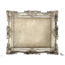 Tischset | Platzset - Rahmen bronze - zum Selbstgestalten aus Papier - 44 x 32 cm