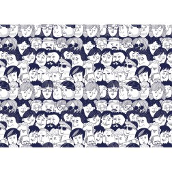 """Schreibtischunterlage - """"Gesichter"""" aus Papier - DIN A 2"""