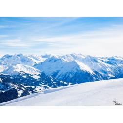 "Tischsets | Platzsets - Snow ""Alpenpanorama"" aus Papier - 44 x 32 cm"
