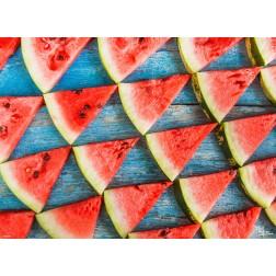 Tischset | Platzset - Melonendreieckchen - aus Papier - 44 x 32 cm