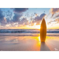 Tischset | Platzset - Surfbrett am Strand - aus Papier - 44 x 32 cm