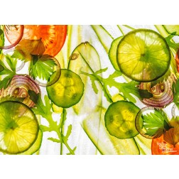 "Tischsets | Platzsets - Food ""Gemüsescheiben"" aus Papier - 44 x 32 cm"