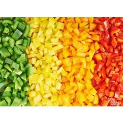 "Tischsets | Platzsets - Food ""Paprikawürfel"" aus Papier - 44 x 32 cm"