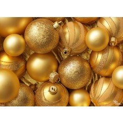 Tischsets | Platzsets - Goldene Weihnachtskugeln 2 - aus Papier - 44 x 31 cm