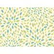 Tischset | Platzset - Grünes Blätter Muster - aus Papier - 44 x 32 cm