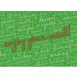Enjoy your meal grün  - Tischset aus Papier 44 x 32 cm