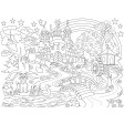 Märchenwelt - Tischset aus Papier 44 x 32 cm