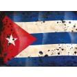 Kuba Flagge retro - Tischset aus Papier 44 x 32 cm