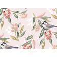Rosa Vögel gemalt - Tischset aus Papier 44 x 32 cm