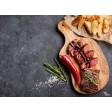 Tischset | Platzset - Steak mit Chilischote - aus Papier - 44 x 32 cm