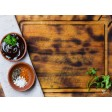 Tischset | Platzset - drapiertes Holzbrett - aus Papier - 44 x 32 cm