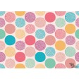 "Tischsets | Platzsets - Muster ""bunt"" aus Papier - 44 x 32 cm"