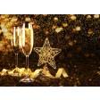 "Tischsets | Platzsets - Silvester ""Goldregen"" aus Papier - 44 x 32 cm"