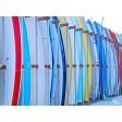 Tischset | Platzset - bunte Surfbretter (2) - aus Papier - 44 x 32 cm