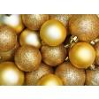 Tischsets | Platzsets - Goldene Weihnachtskugeln - aus Papier - 44 x 32 cm