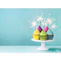 Tischset | Platzset - Geburtstags Cupcakes - aus Papier - 44 x 32 cm