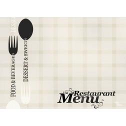 Tischset | Platzset - Restaurantkarte - zum Selbstgestalten aus Papier - 44 x 32 cm