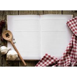 Tischset | Platzset - Kochbuch - zum Selbstgestalten aus Papier - 44 x 32 cm