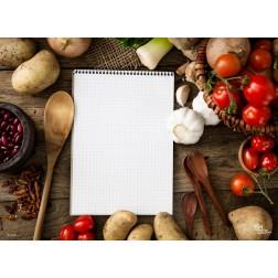 Tischset | Platzset - Gemüse allerlei - zum Selbstgestalten aus Papier - 44 x 32 cm