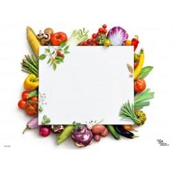 Tischset | Platzset - gesund & munter - zum Selbstgestalten aus Papier - 44 x 32 cm