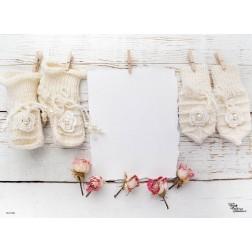 Tischset | Platzset - Süße Babysöckchen - zum Selbstgestalten aus Papier - 44 x 32 cm