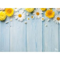 Blüten auf Holz - Tischset aus Papier 44 x 32 cm