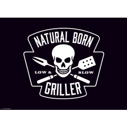 Natural Born Griller black  - Tischset aus Papier 44 x 32 cm