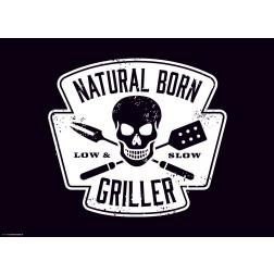 Natural Born Griller Weiß  - Tischset aus Papier 44 x 32 cm