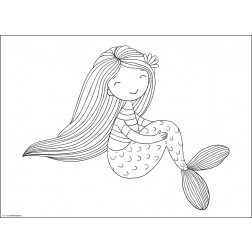 Meerjungfrau 2  - Tischset aus Papier 44 x 32 cm