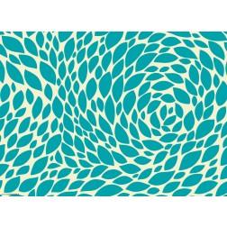 Blättergrafik in türkis  - Tischset aus Papier 44 x 32 cm