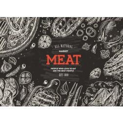 Meat  - Tischset aus Papier 44 x 32 cm