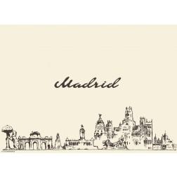 Madrid - Tischset aus Papier 44 x 32 cm