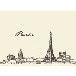 Paris - Tischset aus Papier 44 x 32 cm