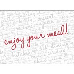 Enjoy your meal weiß  - Tischset aus Papier 44 x 32 cm