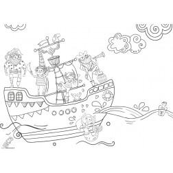 Piratenschiff - Tischset aus Papier 44 x 32 cm