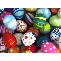 Bunter Eierhaufen- Tischset aus Papier 44 x 32 cm