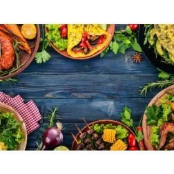 Mexikanisches Essen - Tischset aus Papier 44 x 32 cm