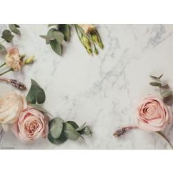 Rosen auf Marmor  - Tischset aus Papier 44 x 32 cm