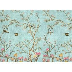 Vogelgemälde - Tischset aus Papier 44 x 32 cm