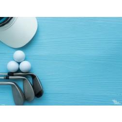 Tischsets | Platzsets - Golfausrüstung aus Papier - 44 x 32 cm