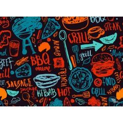 Tischset | Platzset - BBQ Mindmap - aus Papier - 44 x 32 cm